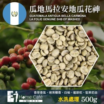 E7HomeCafe一起烘咖啡 瓜地馬拉安地瓜花神水洗處理咖啡生豆(500g)
