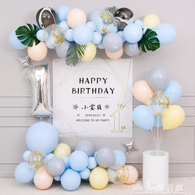 生日佈置寶寶一周歲生日派對氣球裝飾場景佈置男孩女孩百天百日宴生日氣球 【台灣現貨 聖誕節交換禮物 雙12】
