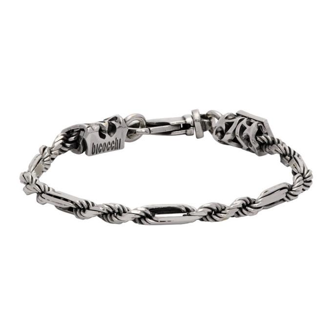Emanuele Bicocchi 银色 Rope and Chain 手链