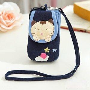 ABS貝斯貓-可愛貓咪拼布包 複合收納功能證件包/零錢包/鑰匙包88-188-海洋藍