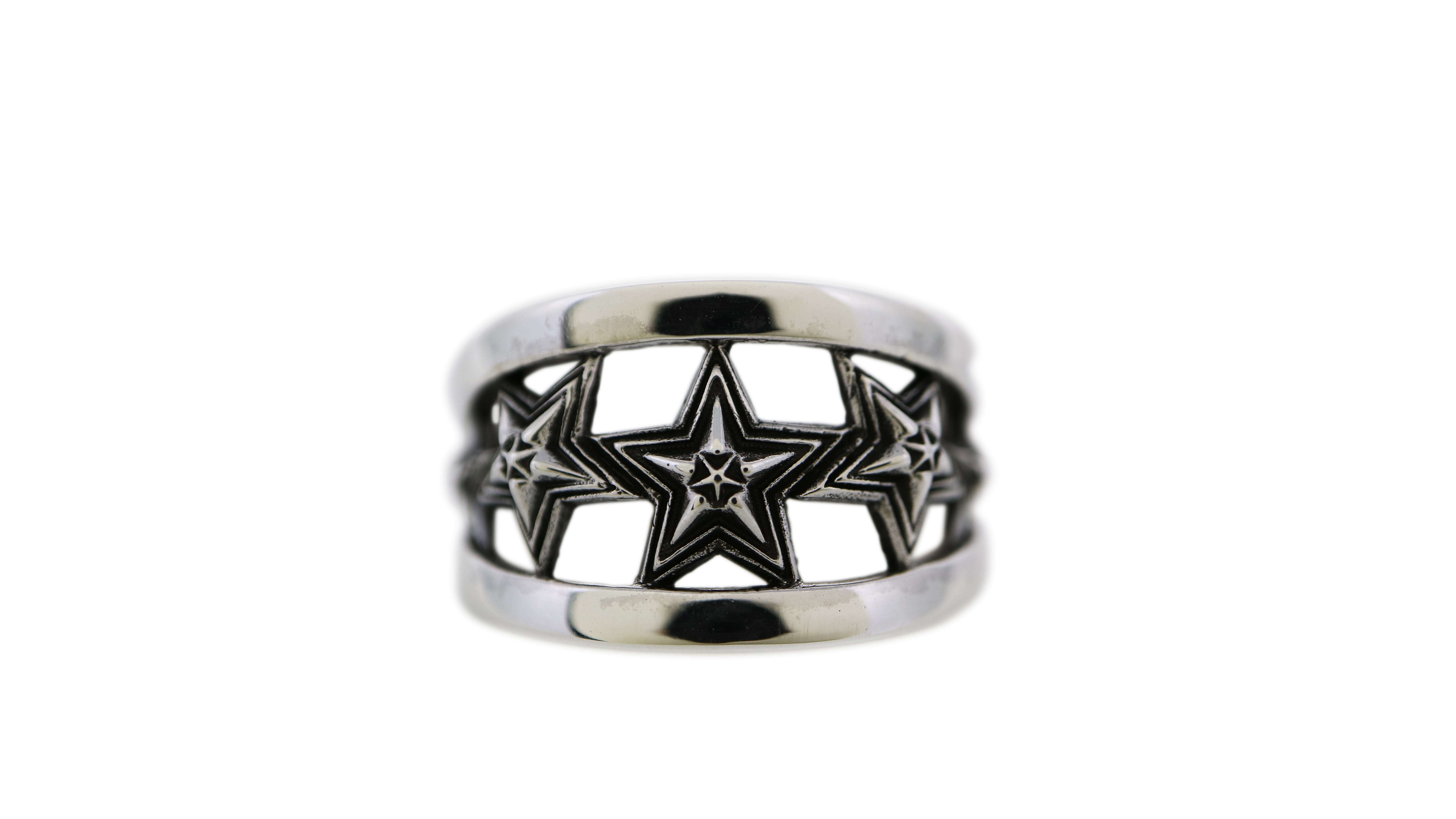 5 STAR IN STAR CUT OUT RING [USD$530]
