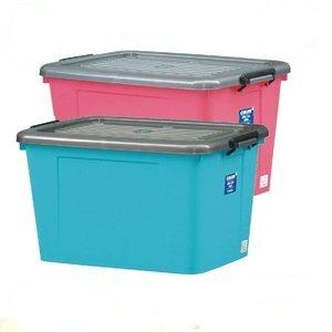 【收納屋】彩色大海量滑輪整理箱(110L/個) (二入/ 組)
