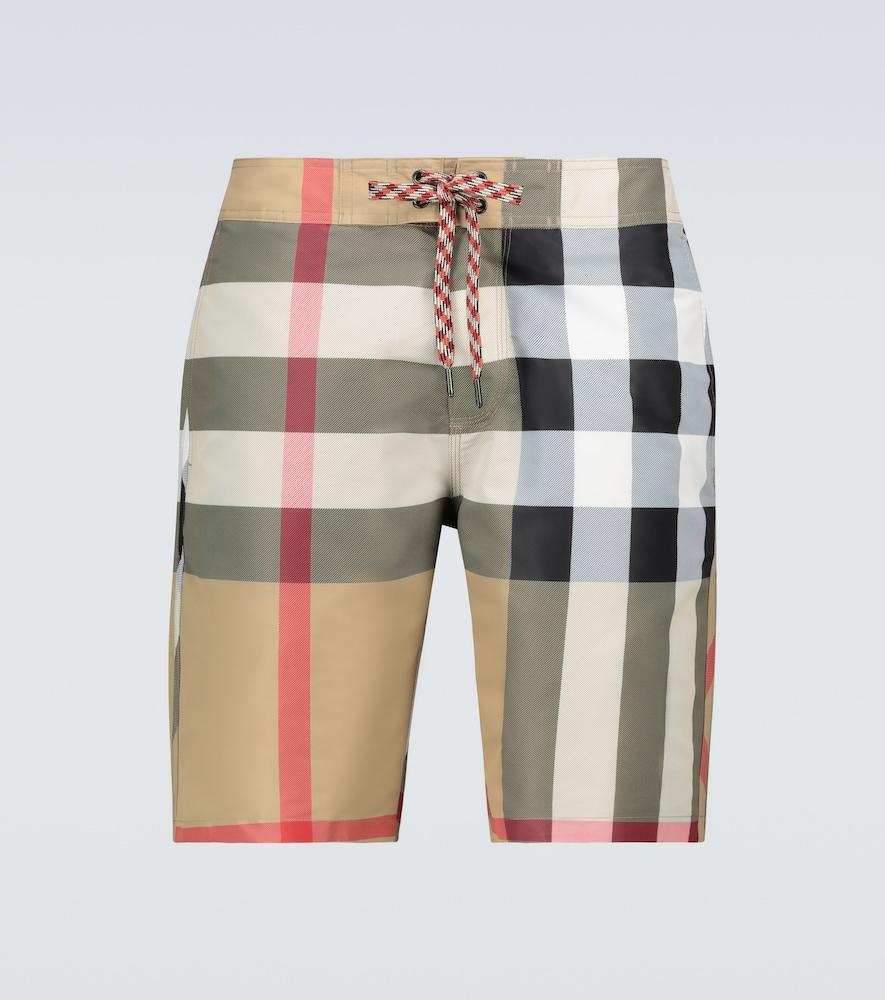 Breton checked swim shorts