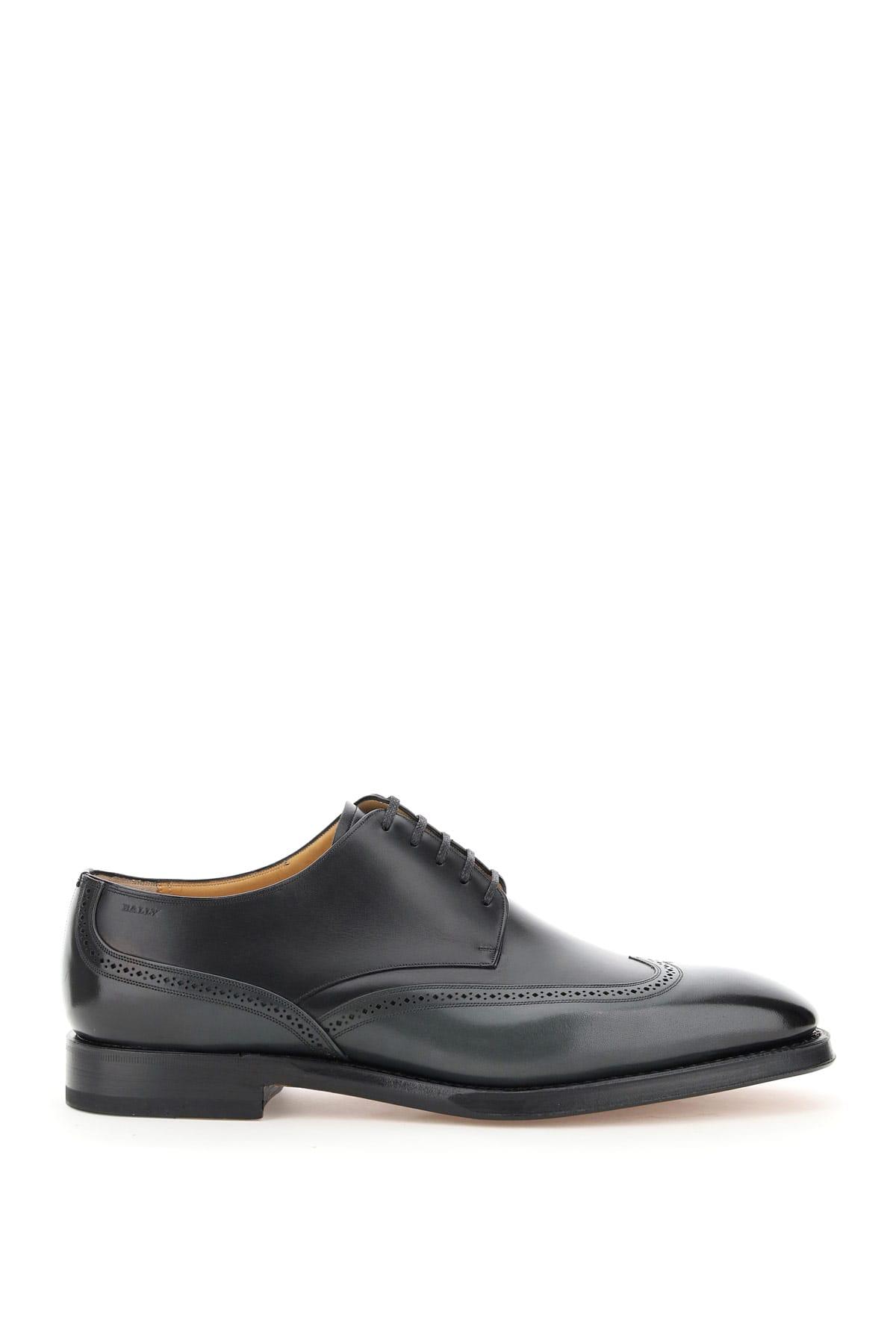 BALLY TIGHTEN SCONNY 8 Grey, Black Leather