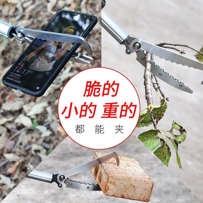加厚鋁合金黃鱔夾泥鰍鱔魚鉗子防脫防蛇工具