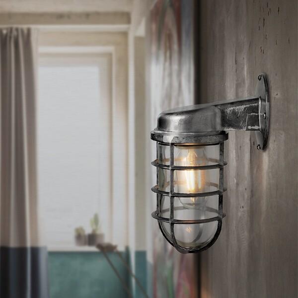 18park-鐵工壁燈-單燈 [銀色,全電壓]