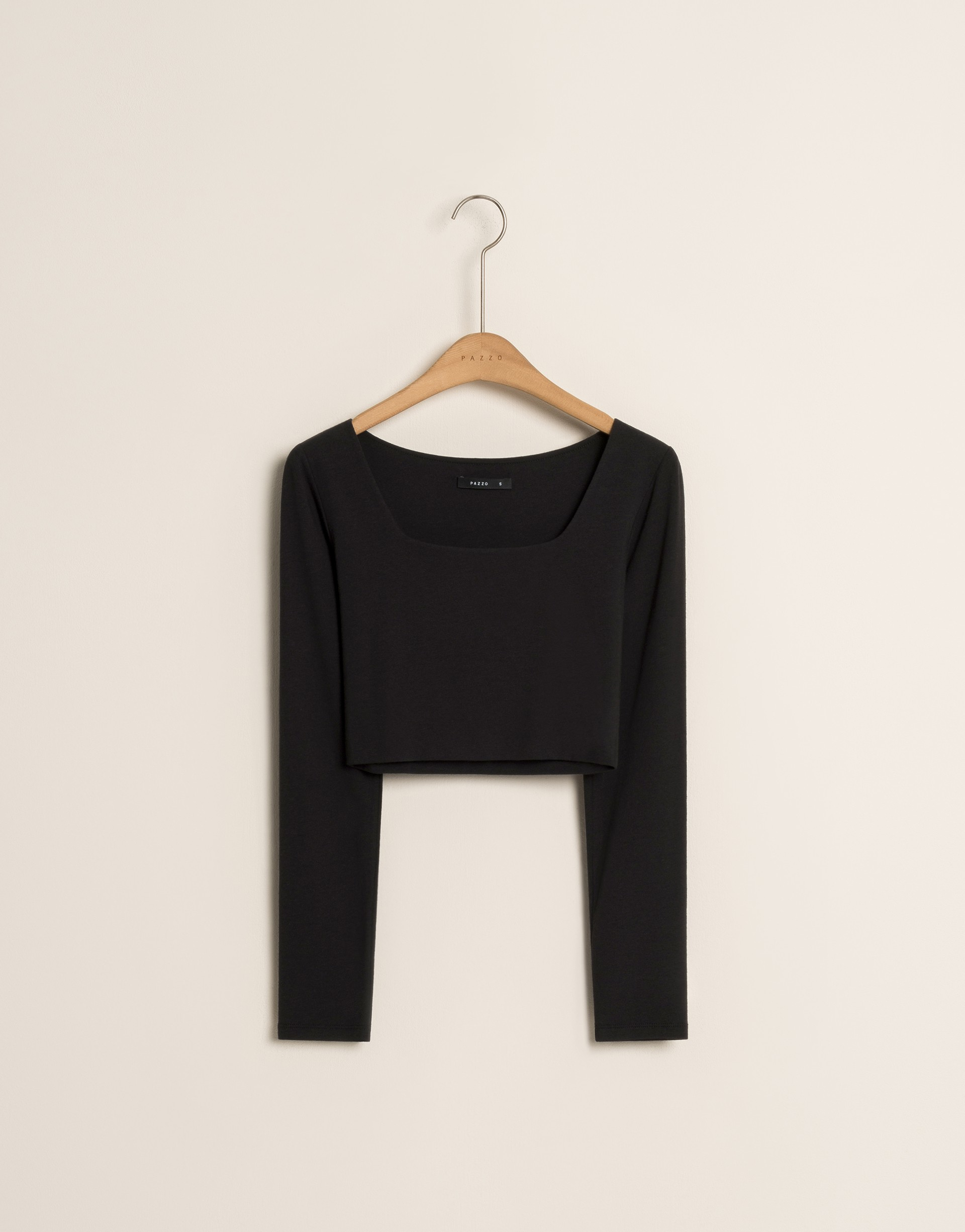 PAZZO+MIT 舒適日常方領造型短版上衣