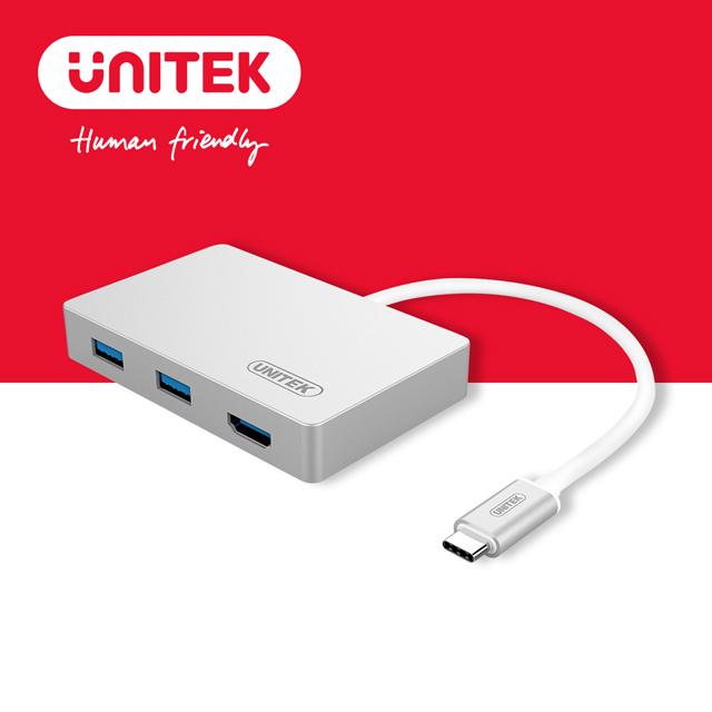 UNITEK TypeC轉 HDMI+USB3.0轉接器