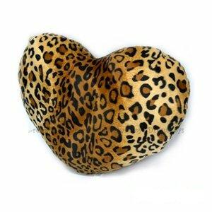 《艾可兒I.CARE》台灣製造。16吋狂野豹紋愛心抱枕/絨毛娃娃/填充娃娃