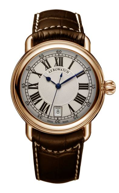 AEROWATCH 瑞士愛羅錶 經典羅馬時刻機械錶款 - A60900 R101