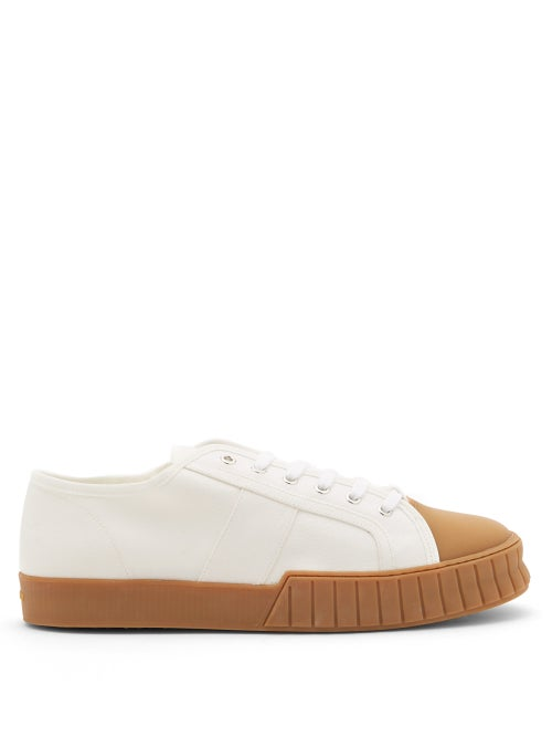 Primury - Divid Recycled-cotton Canvas Trainers - Mens - White