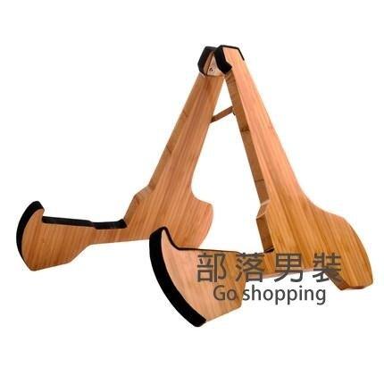 吉他支架 免打孔民謠木吉他尤克里里小提琴落地立式家用竹質掛架a型支架子SUPER SALE樂天雙12購物節
