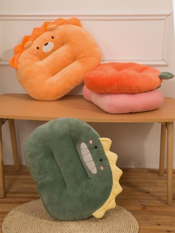 【快速出貨】午睡枕 恐龍抱枕女生可愛毛絨玩具生日禮物床上陪你睡覺暖手 交換禮物  七色堇 元旦 交換禮物
