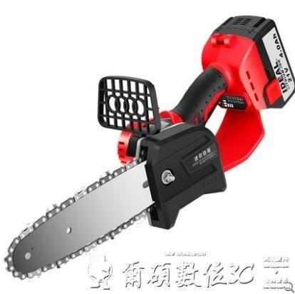 電鋸 鐵邦電鋸伐木鋸家用大功率電動鋸小型多功能鋰電充電式手持電錬鋸LX
