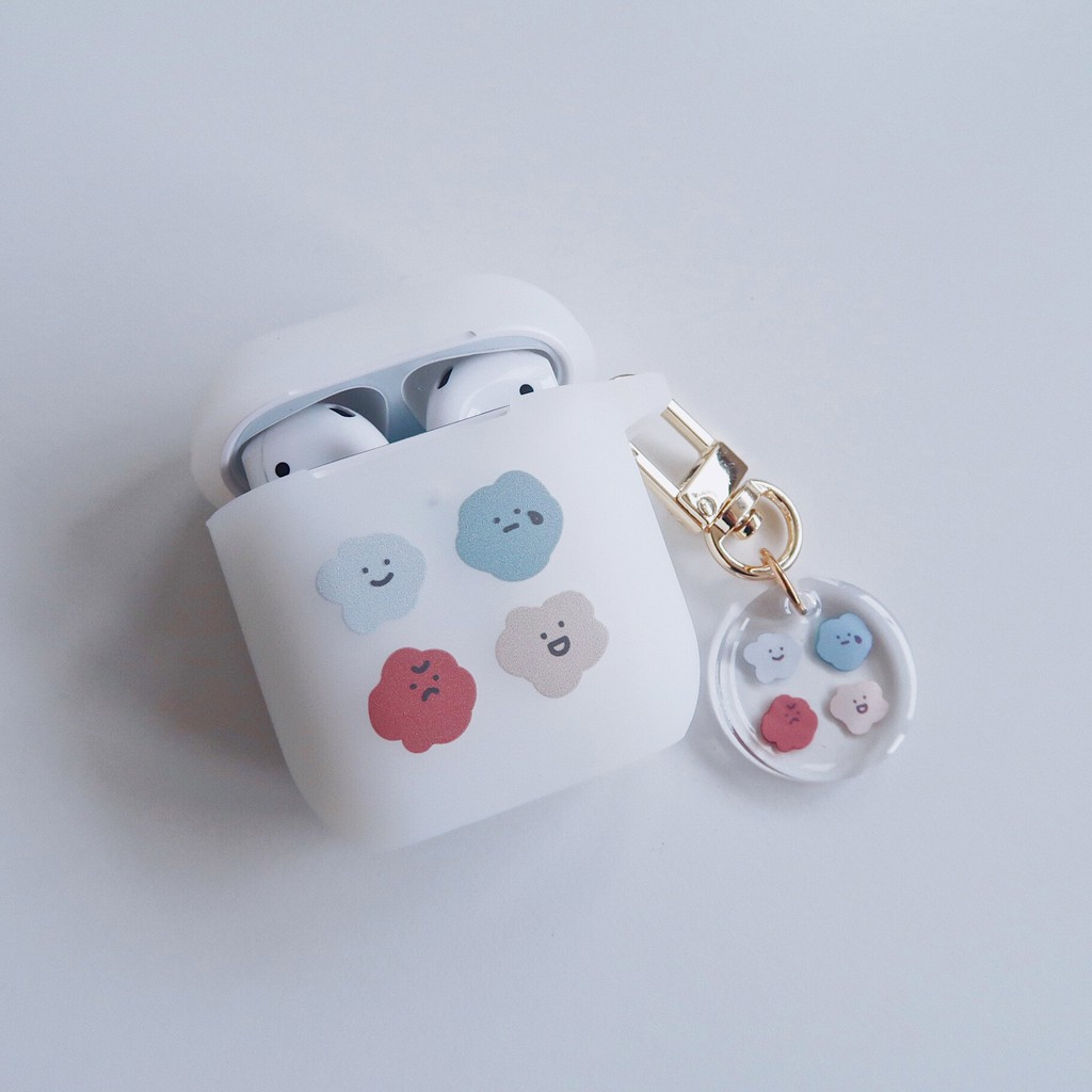 AirPods 蘋果矽膠耳機保護套 喜怒哀樂 含吊飾|現貨 今日下單明天出貨【方坊】