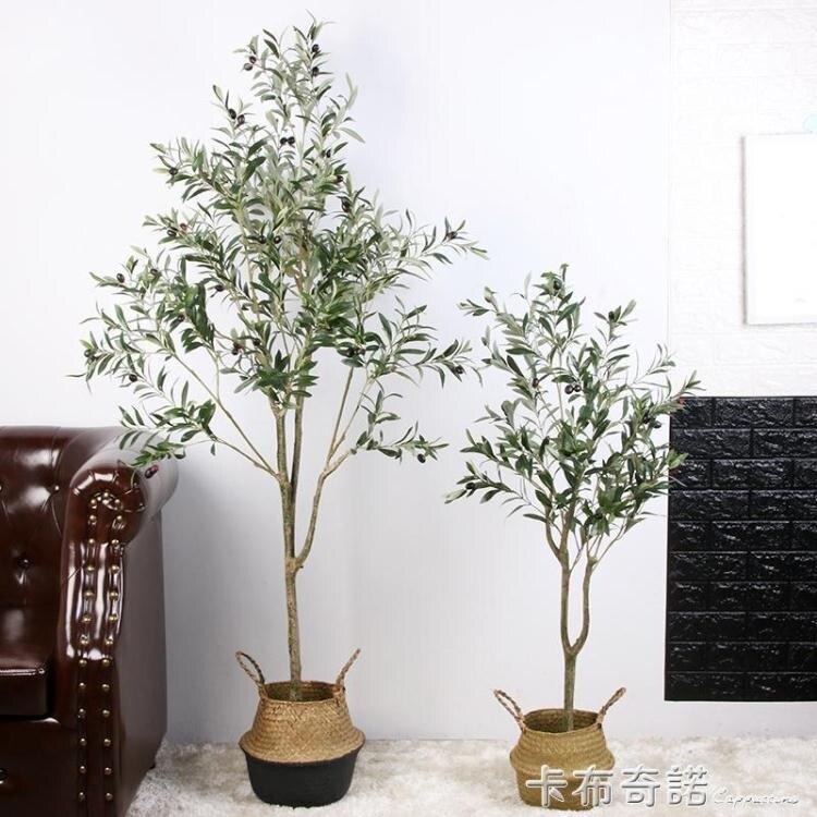 北歐風仿真橄欖樹盆栽網紅大型綠植物室內假裝飾客廳落地擺件