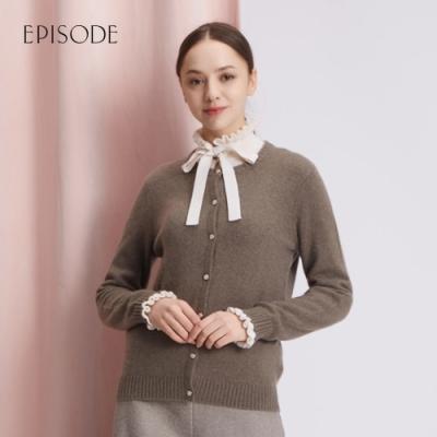 EPISODE - 輕薄羊絨保暖圓領彈力針織外套