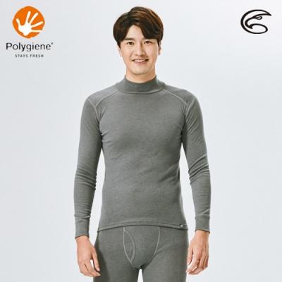 ADISI 男小高領抑菌消臭抗靜電保暖衣AU2021002 / 暗灰色