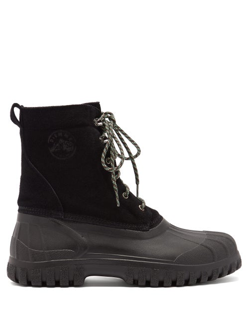 Diemme - Anatra Suede And Rubber Boots - Mens - Black