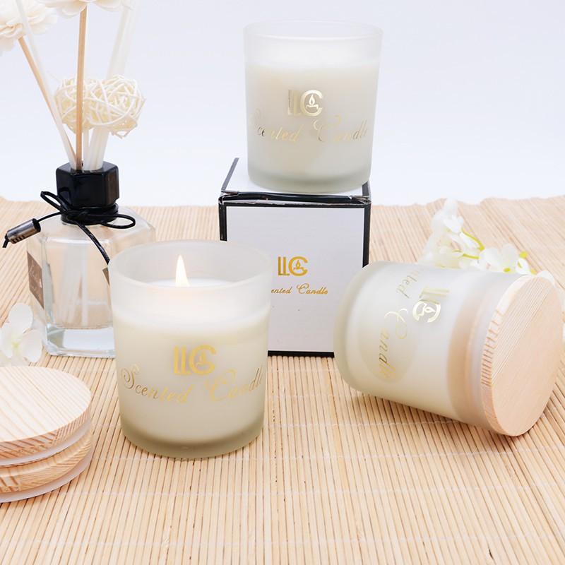 進口精油熏香香薰蠟燭杯香氛蠟燭禮盒純天然大豆蠟無煙蠟燭送禮品