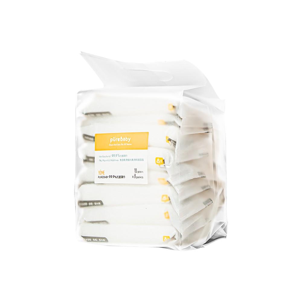PureBaby 99.9%抗菌濕巾 (10抽8包)