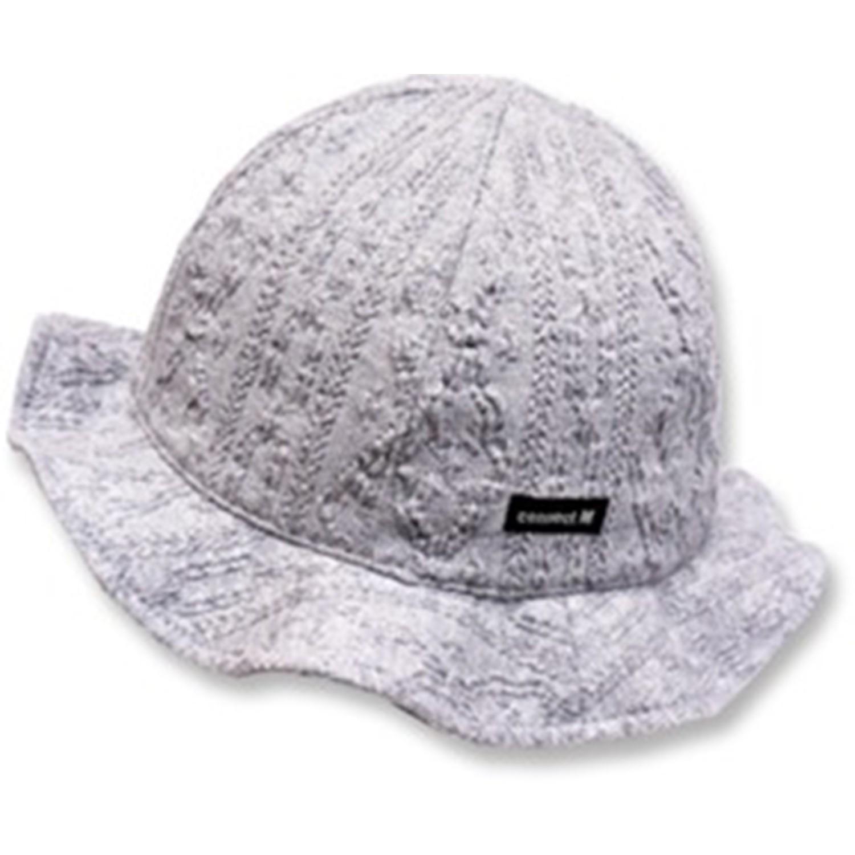 日本 Connect M - 可愛保暖帽-小童款-花苞款_灰色-03-1006