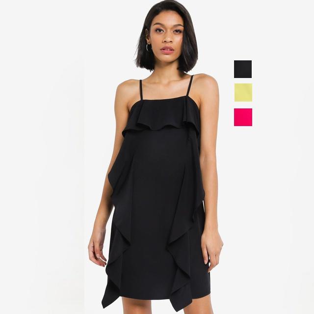 ZALORA BASICS 層疊吊帶裙-3色 ZB0120WAP2195