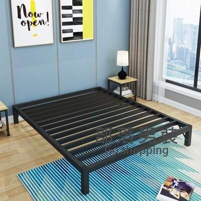 鐵藝床架 現代簡約北歐風單人床雙人鐵藝床1.5米1.8米鐵床鐵床架1.2米加固