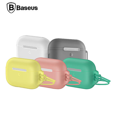 Baseus 倍思 Lets go AirPods Pro 果凍掛繩保護套透白
