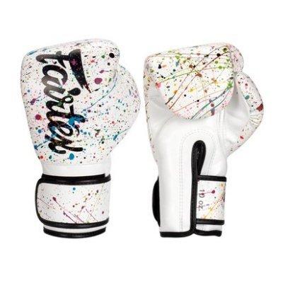 [古川小夫] Fairtex 10oz 新款圖案 健身房拳擊手套~重擊打沙袋拳套~個性化改裝 - 彩繪黑邊 BGV14