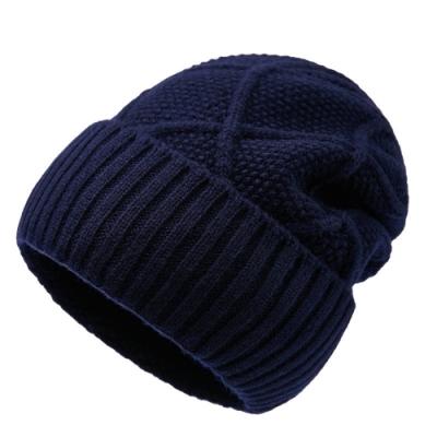 米蘭精品 羊毛帽針織帽-純色毛線保暖舒適男帽子情人節生日禮物4色73wj16