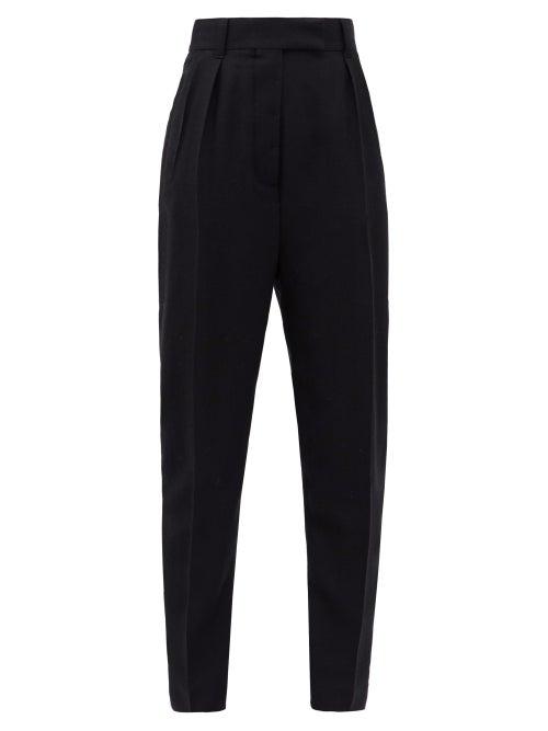 Haider Ackermann - High-rise Buckled-seat Wool-twill Trousers - Womens - Black