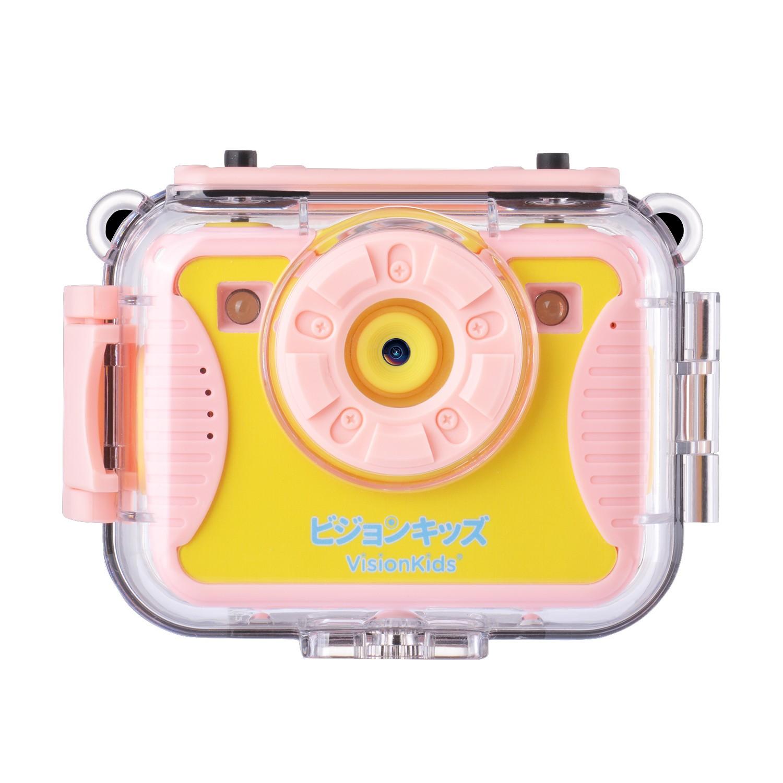 日本 VISIONKIDS - ActionX Plus 1600萬像素可拍照防水兒童數位相機-粉色