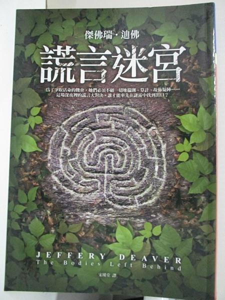 【書寶二手書T3/一般小說_B6V】謊言迷宮_宋瑛堂, 傑佛瑞.迪佛