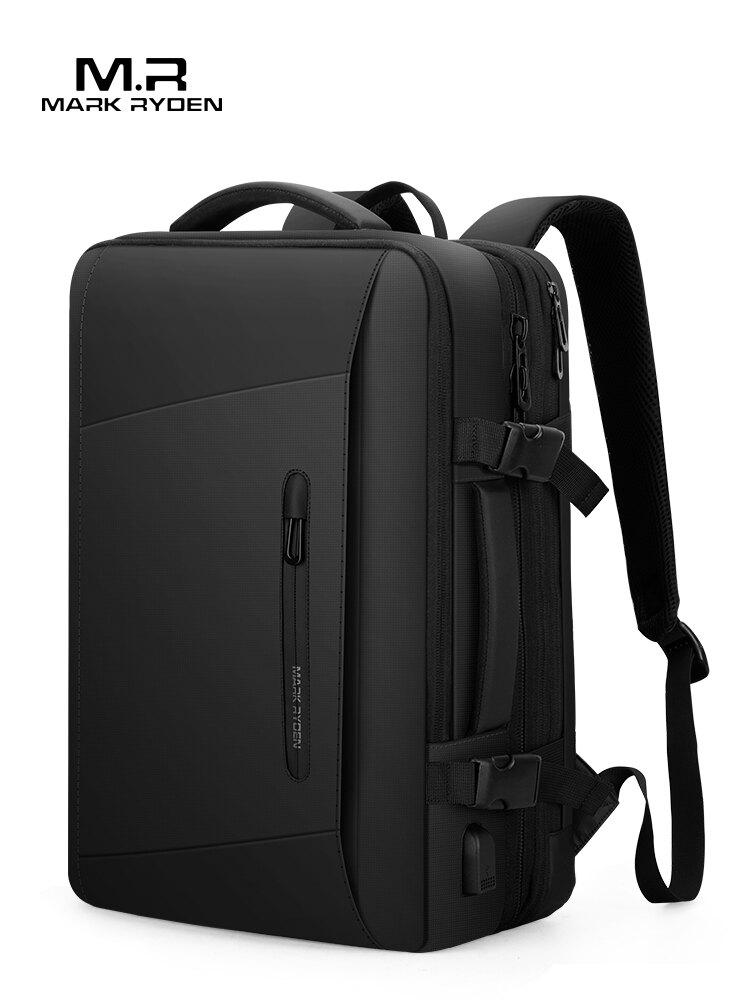 側背包男士背包應急雨衣大容量出差旅行17寸筆記本電腦包商務書包