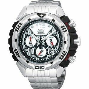 ALBA FLAGSHIP 魔獸爭霸三眼計時時尚腕錶-50mm(VK63-X003D)
