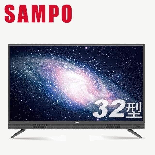 【SAMPO 聲寶】32型HD低藍光顯示器+視訊盒(EM-32BA100+MT-100)