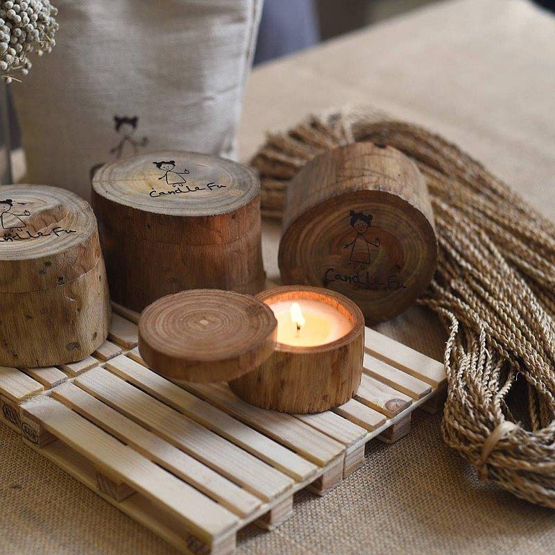 【客製禮物】150ml 懷味麥香 天然手工香氛蠟燭 圓木大豆香氛蠟燭