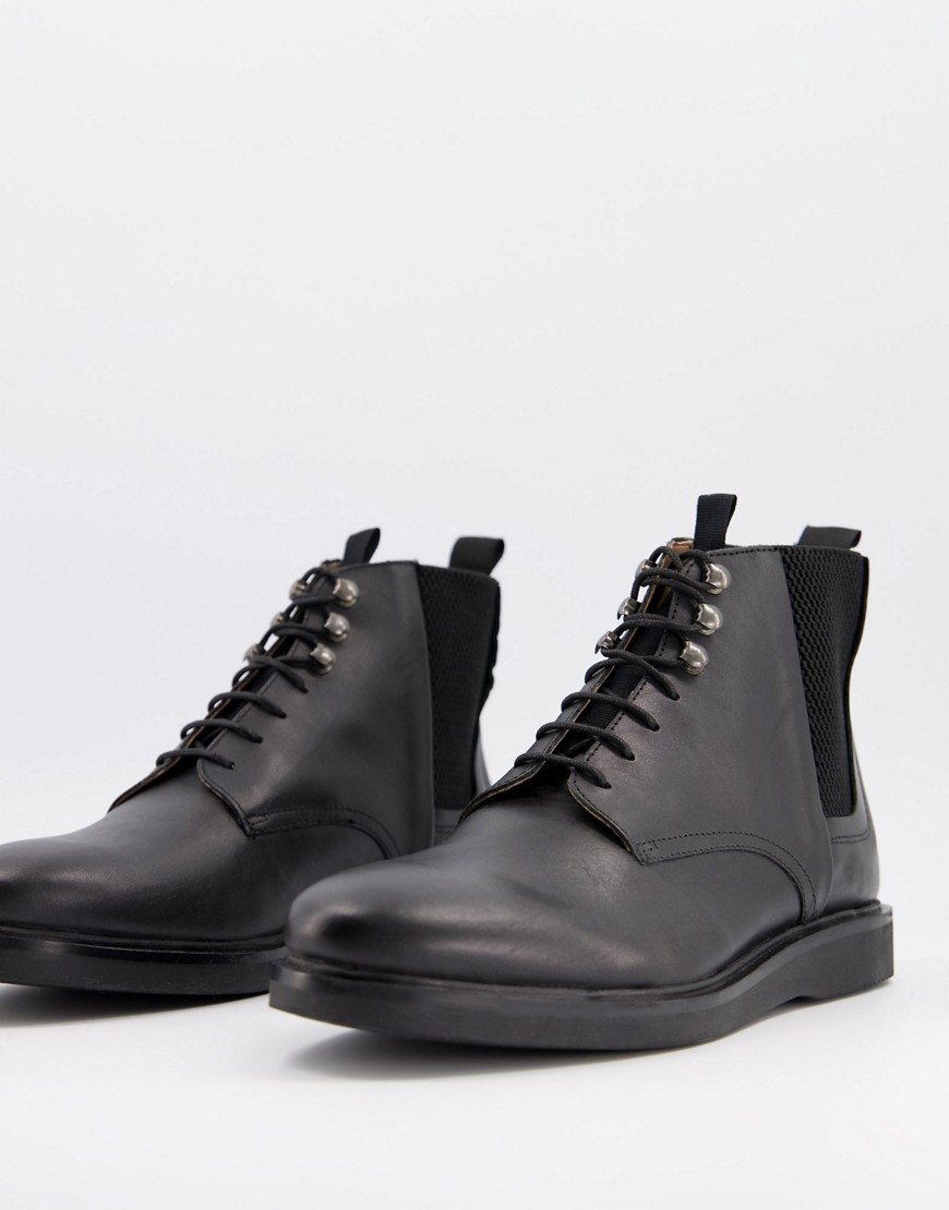 H by Hudson gamma hiker boots in black