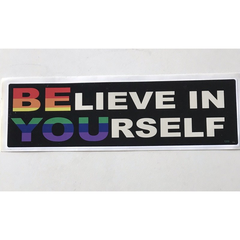 《彩虹小舖》多元成家貼紙 Believe in yourself相信自己美國買回