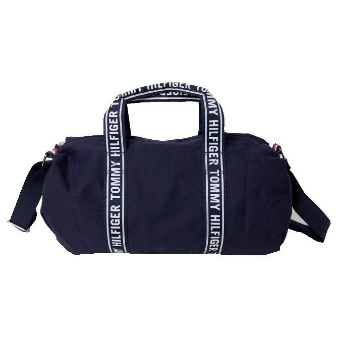 Tommy Hilfiger 小款 手提包 帆布包 旅行袋 運動包 籃球包 側背包 T91165 深藍色(現貨)