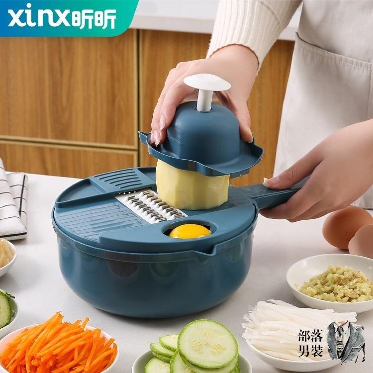 切絲器 廚房神器多功能削土豆絲切菜機家用切絲刨絲器切片切花切丁擦絲器