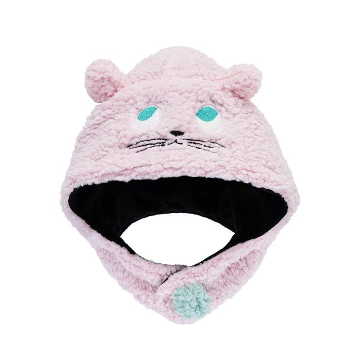 Dabbakids - 瓦拉帽-兒童造型親膚圍脖帽-貓咪的呢喃