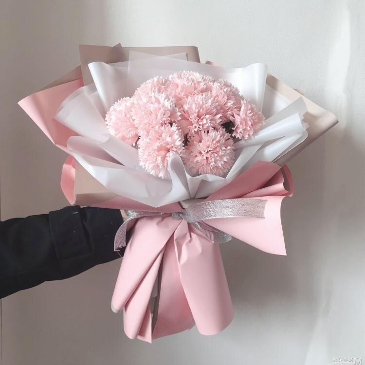 樂天活動-ins風19朵玫瑰皂花康乃馨仿真送媽媽花 母親婦女節送閨蜜女友禮物