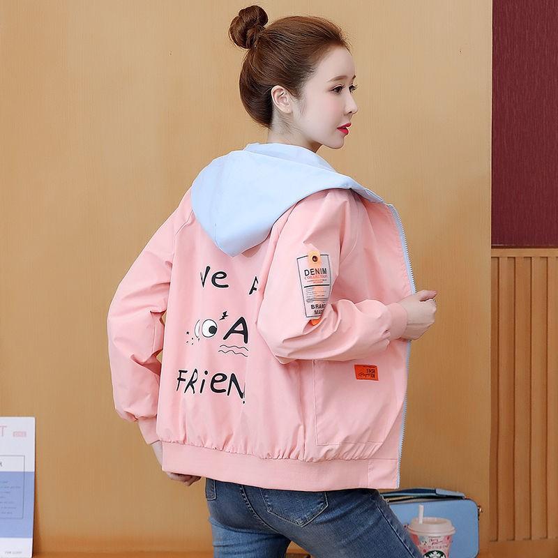 【超值現貨】外套女2020秋裝新款韓版時尚休閑連帽短款學生百搭上衣夾克棒球服