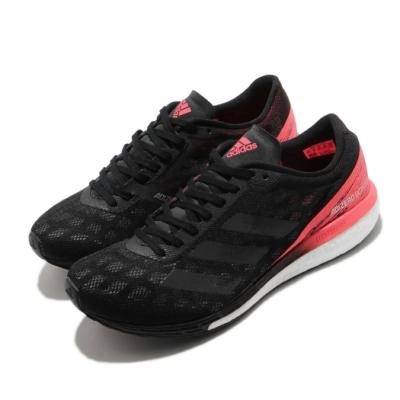 adidas 慢跑鞋 Adizero Boston 9 女鞋 愛迪達 路跑 運動休閒 反光 穿搭 黑 粉 EG4656