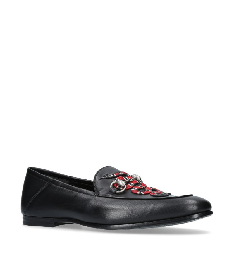 Gucci Brixton Snake Loafers