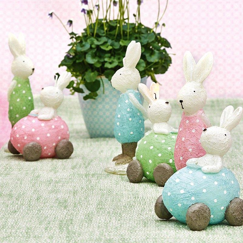 丹麥GreenGate 兔子汽車造型蠟燭 (單個)