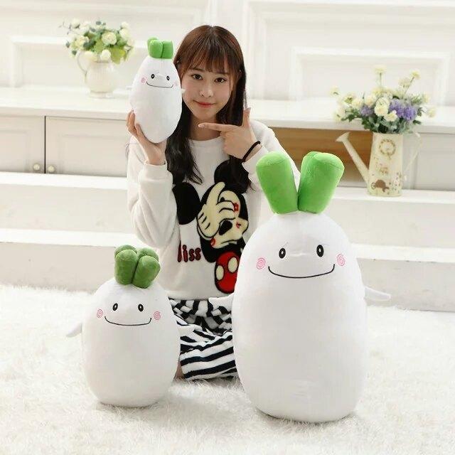 11.11 水果蔬菜系列抱枕公仔毛絨玩具抱枕玉米西蘭花布娃娃