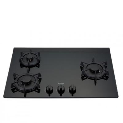 (全省安裝)林內三口LOTUS玻璃檯面爐蓮花爐黑色LED瓦斯爐桶裝瓦斯RB-F312G(B)_LPG